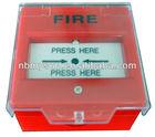Fire break glass detector alarm button