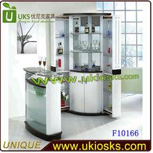 Modern home bar counter design corner bar cabinetglass wine bar cabinet