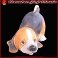 artesanías de resina de perro