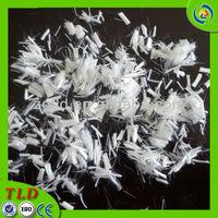 solid polymer fiber PE fiber concrete cement polyester staple fiber