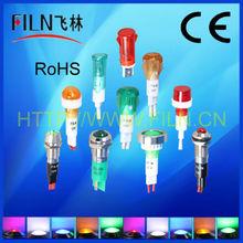 8mm 12v metal LED indicator lights led light bar