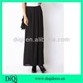 largo de gasa de color negro faldas plisadas color