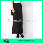 Long chiffon black color skirts pleated color