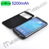 5200mAh Flip Leather+Hard PC External Backup Battery Case for Samsung Galaxy Mega 6.3 i9200