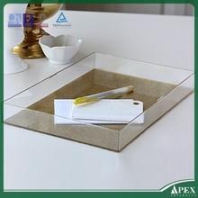 acrylic cosmetic tray acrylic amenity tray