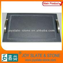black slate serving plates