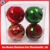 New design flocking plastic 2014 christmas ball
