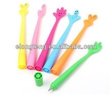 cheap finger shaped silicon ballpoint pen
