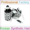 7 pieces plastic cosmetic brush set with a holder cheap cosmetic brush set with synthetic hair