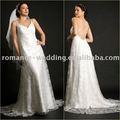 pe0071 espaguetis correa petite con apliques de encaje blanco de la boda de prendas de vestir