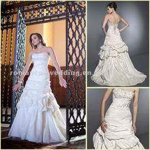 KW0030 Graceful Draped Beaded Bridal Fabric Love Forever Wedding Dress
