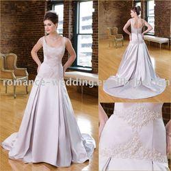 MC0101 Sleeveless A-line Satin Wedding Dress