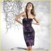 2012 FR0024 Dark Purple Embroidery Celebrity Cocktail Dresses