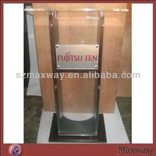 Elegante de vidro orgânicas de plástico igreja púlpito com impressão do logotipo