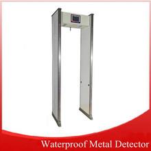 Top single zone walk-through metal detectors