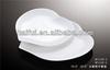 peach shape porcelain dinner plate for hotel and restaurant