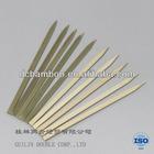 Natural flat bamboo skewer