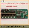 high quality OEM/ODM 150M realtek chipset 1P Wan+4p LAN External antenna 2.4G edup wireless usb adapter tp link Router