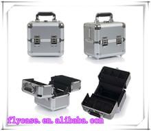 professional aluminum beauty case,carrying aluminum hair case in aluminum case with code lock