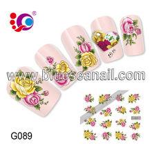 2014 new designs fashion nail art sticker nail accessories korea cosmetic