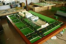 football stadium / basketball field scale model making