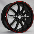New design matt black car alloy wheels / aluminum car mag wheel rim 17 inch