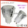 Aluminium small led spot light high power 2 W mr11 led spotlight cob led mr11
