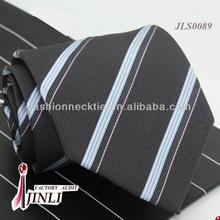 Grey Stripes Mens Necktie