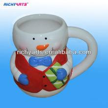 snowman ceramic coffee mugs for decoration