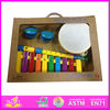 Hot sale high quality wooden drum set, Musical instruments wooden drum set, fashion wooden drum set W07A030