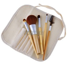 Professional 5PCS Makeup Brush Set tools Make-up Toiletry Kit Make Up Brush Set Case 19080
