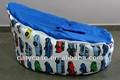 Moderna vettura da corsa con il blu beanbags bambino sedia, bambino sacchetto di fagioli sede pod todler bambino sacchetto di fagioli, vivaio letto coccole