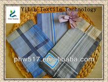 430-3 Light-colored plaid satin Hot Men handkerchiefs custom export