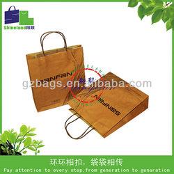 block bottom brown kraft paper bags/decorative handmade paper gift bags