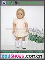 crema 18 pulgadas patrones de ropa de muñecas Niña Americana ropa de la muñeca al por mayor vestido de la muñeca Niña Americana