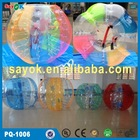Top quality 1.5m TPU/PVC inflatable bumper ball