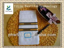 430A-1 All white satin Men handkerchiefs custom export