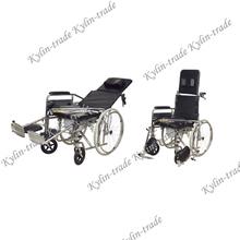 Reclining commode wheelchair WA036