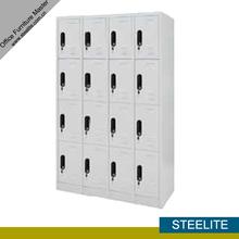 large 16 compartments steel white marine wardrobe / 4-layer 16 doors metal ski gym locker for sale