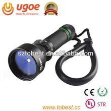 UGOE DF03 led dive torch 100m underwater mini led flashing light(CE,RoHS,UL-STR)