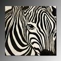 Negro y blanco a rayas de cebra pinturadelacara realista, de alta- calidad de mano- pintado arte de la pared arte abstracto pintura al por mayor