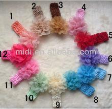 Korean peony flower hair accessories baby headband knitted