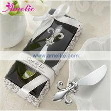 A2138 Silver Fleure De Lis Wedding Butter Knife Favors