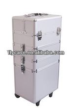 selling abs aluminum make up trolley case for nail beauty,locking aluminum carry case with high quality