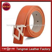 New Womens Leather CA Shape Alloy Buckle Fashion Waistband Waist Belt Strap