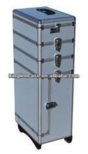 wheels silver beauty trolley cosmetics case KL-H347