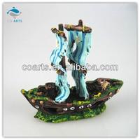 Fish tank aquarium Resin craft sailing ships decoration CA7343
