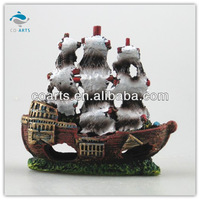 Fish tank aquarium Resin craft sailing ships decorationCA7346
