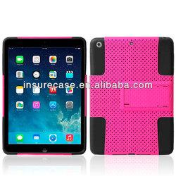 For ipad air case,2in1 silicone PC Mesh design for ipad air case,Combo case for IPAD Air/IPAD 5