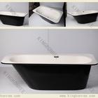 kkr square black gel coated solid surface shower tub